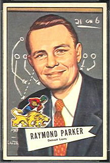 Buddy Parker 1952 Bowman Small football card