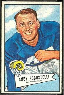 Andy Robustelli 1952 Bowman Small football card