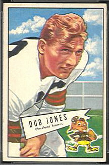 Dub Jones 1952 Bowman Small football card
