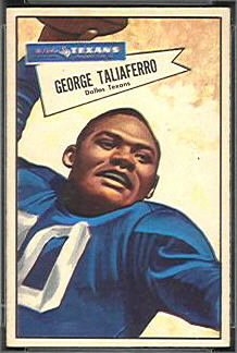 George Taliaferro 1952 Bowman Small football card