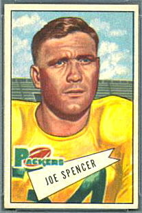 Joe Spencer 1952 Bowman Small football card