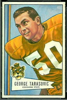 George Tarasovic 1952 Bowman Small football card