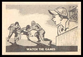 Watch the Games 1952 Parkhurst football card