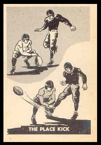 The Place Kick 1952 Parkhurst football card