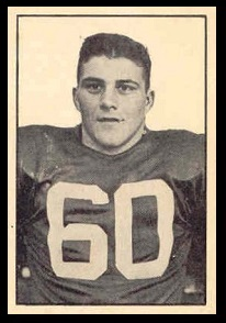 Bob Simpson 1952 Parkhurst football card