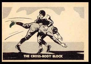 The Cross-Body Block 1952 Parkhurst football card