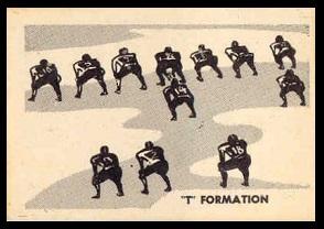 T Formation 1952 Parkhurst football card