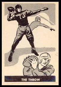 The Throw 1952 Parkhurst football card