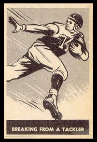 Breaking from Tackle 1952 Parkhurst football card