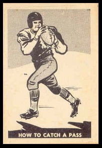 How to Catch a Pass 1952 Parkhurst football card
