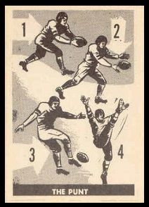 The Punt 1952 Parkhurst football card