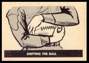 Shifting the Ball 1952 Parkhurst football card