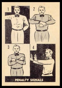 Penalty Signals 1952 Parkhurst football card