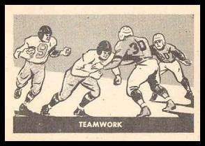 Teamwork 1952 Parkhurst football card