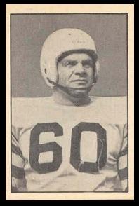 Jack Carpenter 1952 Parkhurst football card