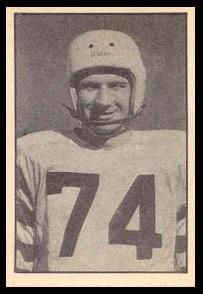 Bob Heck 1952 Parkhurst football card