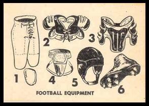 Football Equipment 1952 Parkhurst football card