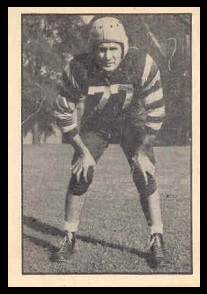 Byron Karrys 1952 Parkhurst football card