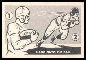 Hang onto the Ball 1952 Parkhurst football card