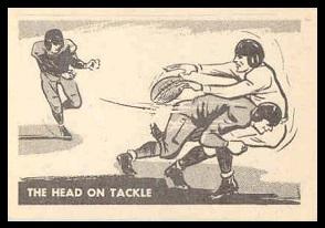The Head On Tackle 1952 Parkhurst football card