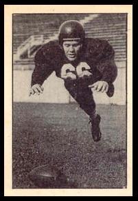 Dave Tomlinson 1952 Parkhurst football card