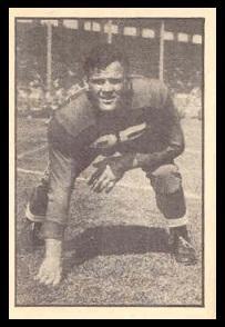 John Wagoner 1952 Parkhurst football card