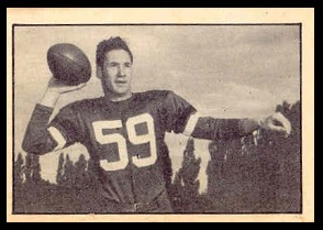Ted McLarty 1952 Parkhurst football card