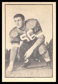 Gerry Lefebvre 1952 Parkhurst football card