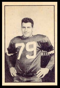 Bruce Cummings 1952 Parkhurst football card