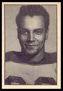 Dick Brown 1952 Parkhurst football card