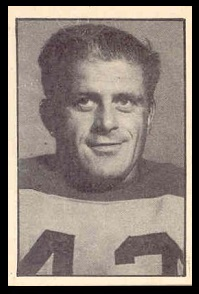 Earl Valiquette 1952 Parkhurst football card
