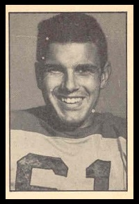 Floyd Cooper 1952 Parkhurst football card