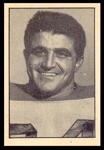 Louie DiFrancesco 1952 Parkhurst football card