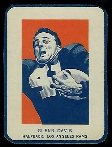 Glenn Davis in Action 1952 Wheaties football card