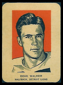 Doak Walker Portrait 1952 Wheaties football card