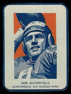 Bob Waterfield Portrait 1952 Wheaties football card