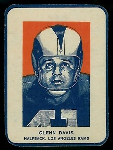Glenn Davis Portrait 1952 Wheaties football card