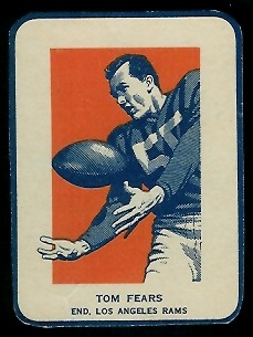 Tom Fears in Action 1952 Wheaties football card
