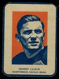 John Lujack Portrait 1952 Wheaties football card