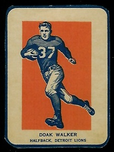 Doak Walker in Action 1952 Wheaties football card