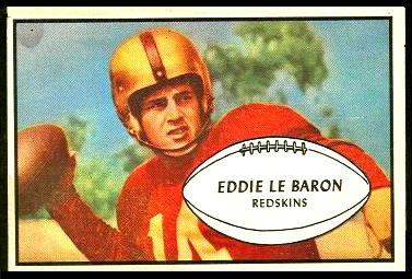Eddie LeBaron 1953 Bowman football card