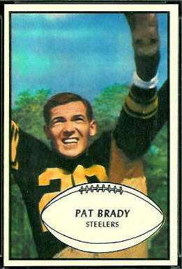 Pat Brady 1953 Bowman football card