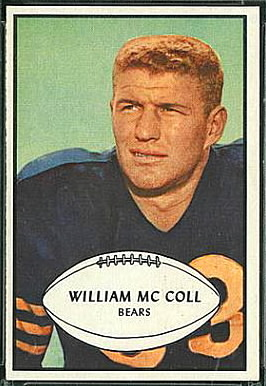 Bill McColl 1953 Bowman football card