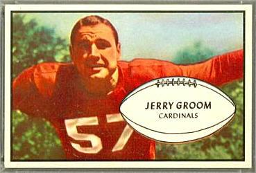 Jerry Groom 1953 Bowman football card