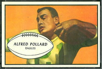 Al Pollard 1953 Bowman football card