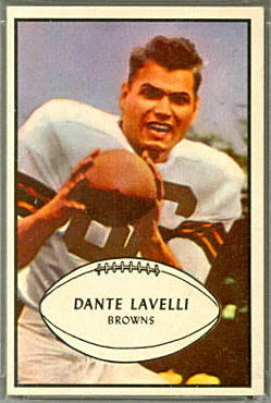 Auctions In Ohio >> Dante Lavelli - 1953 Bowman #15 - Vintage Football Card ...