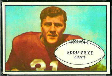 Eddie Price 1953 Bowman football card
