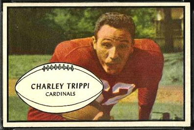 Charley Trippi 1953 Bowman football card
