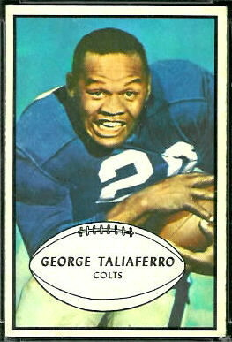 George Taliaferro 1953 Bowman football card