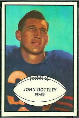 John Dottley 1953 Bowman football card
